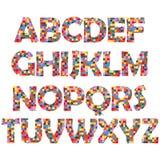 Mosaic alphabet. Simple mosaic alphabet ,vector illustration vector illustration