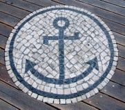 Mosaic Anchor Stock Photography