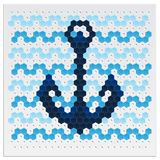 Mosaic Anchor Royalty Free Stock Photo