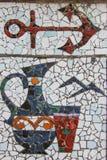 Mosaic anchor Royalty Free Stock Photos
