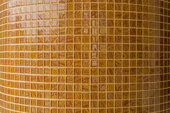Mosaic in ancient style stacked with tiny brown. Royalty Free Stock Photo