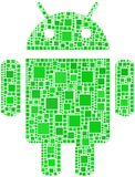 Mosaic of Android logo Royalty Free Stock Photos