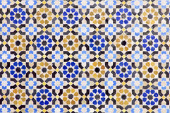 Mosaic arabic. Arabic mosaic of colors that form a beautiful puzzle Stock Photo