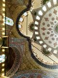 Ceiling of the blue mosque in Istanbul Royalty Free Stock Images