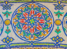 Mosaic around the gate to the royal palace in Morocco Royalty Free Stock Photos