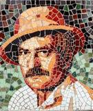 Mosaic art - Amza Pellea portrait royalty free stock image
