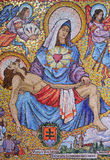 Mosaic art from the annunciation curch Royalty Free Stock Photography