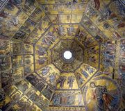 Mosaic Art of Florence Baptistery Royalty Free Stock Photography