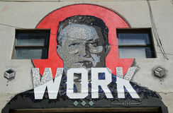 Mosaic art by Puerto Rican artist Celso Gonzalez at East Williamsburg in Brooklyn Stock Photo