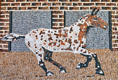 Mosaic. Art with running horse Stock Photos