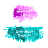 Mosaic backdrops vector. Pink and turquoise mosaic backdrops made in vector Stock Photography