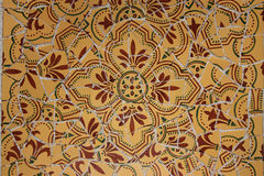Mosaic backgound. Park Guell, Barcelona Royalty Free Stock Photo