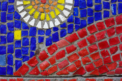 Mosaic background. Colourful Mosaic Background Made Of Many Little Stones Stock Images