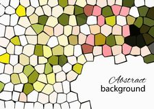 Mosaic background. Its a spring, vector mosaic. You can use for greeting someone Stock Photo