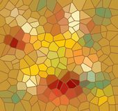 Mosaic background in autumn colors Stock Image