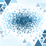 Mosaic Background. A blue mosaic abstract background texture of triangles vector illustration