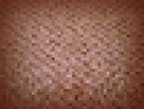 Mosaic background of brown squares Stock Image