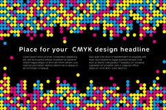 Mosaic background from CMYK colors - place for text. Abstract mosaic background from CMYK colors with place for text - print concept. Vector illustration Royalty Free Stock Photography