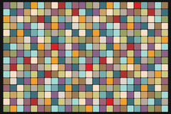 Mosaic background of colored squares. Vintage pop art retro illustration Royalty Free Stock Photography