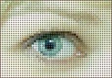 Mosaic background of eye circles Stock Photos