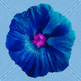 Mosaic background - flower.  Blue  lilac flower on a cyan background.  Vector illustration Royalty Free Stock Images