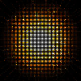 Gold starburst mosaic Royalty Free Stock Image