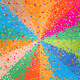 Mosaic background. With multicolored beams Stock Images