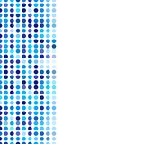 Mosaic background random dark and light blue circles stock illustration