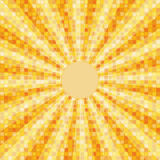 Mosaic background with rays Stock Images