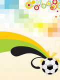 Mosaic background with soccer Stock Images