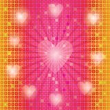Mosaic background with valentines Stock Photography