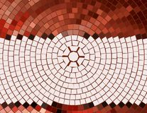 Mosaic Backsplash Poster. Graphic design of mosaic backdrop for invitation, poster, card, or backsplash royalty free illustration