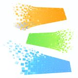 Mosaic banners in perspective Stock Photos