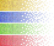 Mosaic banners Royalty Free Stock Photos