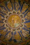 Mosaic in Baptistry of Neon Royalty Free Stock Photography