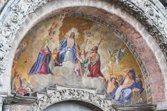 Mosaic on Basilica of Saint Mark Stock Photos