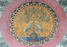 Mosaic, basilica of Saint Paul Outside the Walls, Rome. Italy Stock Photography