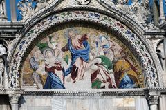 Mosaic on the Basilica San Marco Stock Photos