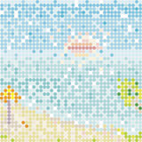 Mosaic beach. Color mosaic beach, vector pattern vector illustration