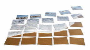 Beach mosaic  Royalty Free Stock Photos