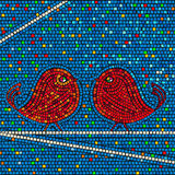 Mosaic birds Royalty Free Stock Images