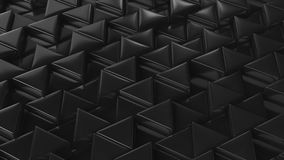 Mosaic of black triangles. Stock Images