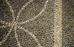 Mosaic of black and white stones Stock Photos