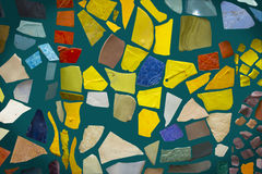 Mosaic on a blue background. Multicolored mosaic on a blue background Royalty Free Stock Images
