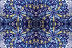 Mosaic blue tile Stock Image