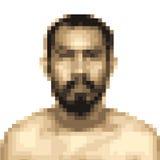 Mosaic blur of asian man face Royalty Free Stock Photos
