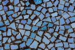 Mosaic on the bottom of pool Royalty Free Stock Photography