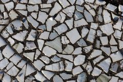 Mosaic on the bottom of pool Stock Photography