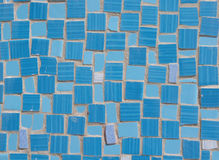 Mosaic of broken tile pieces on wall Royalty Free Stock Photo
