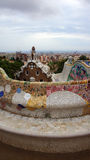 Mosaic building in Park Guell in Barcelona Royalty Free Stock Images